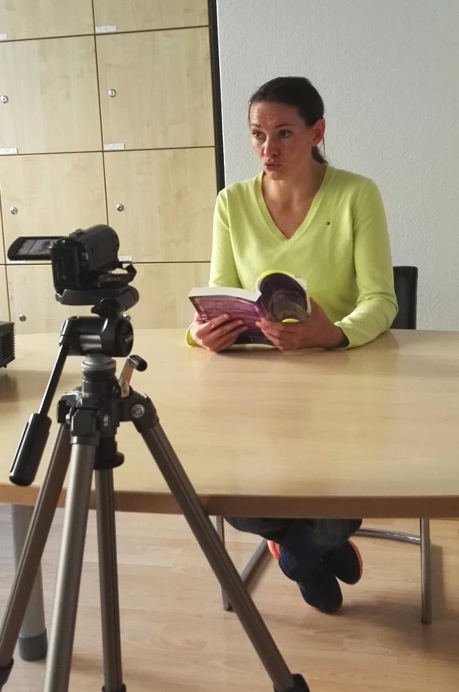 Anja Lehmann-Grüner bei der Video-Lesung