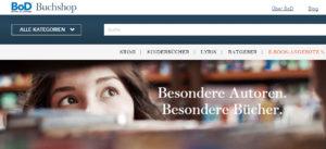 Der neue Buchshop von BoD